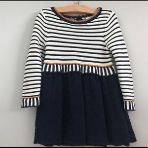 Other - Navy Striped Sweater Dress